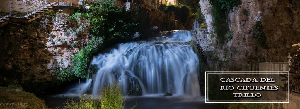 cascada del rio cifuentes por la noche