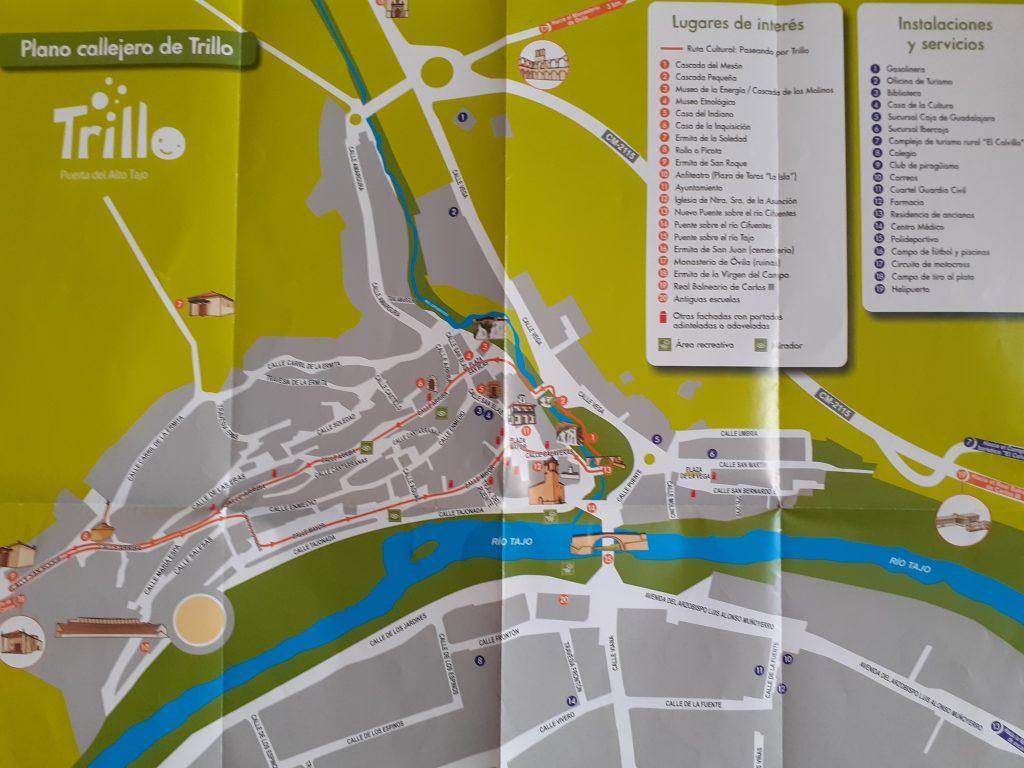 mapa urbano de Trillo