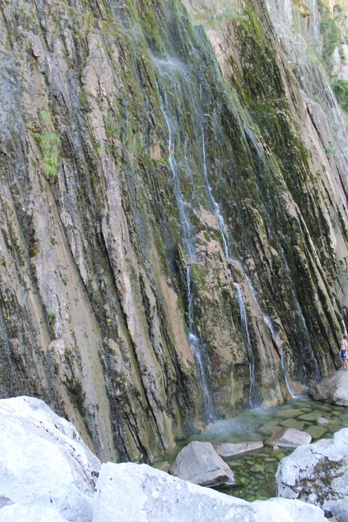 pie de la cascada Cailagua